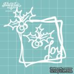 """Чипборд от Вензелик - Рамка + веточка """"Joy"""", размер: 76x74 мм - ScrapUA.com"""