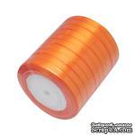 Ленточка атласная  Orange, 10мм, цвет оранжевый, 90 см - ScrapUA.com