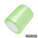 Ленточка атласная  Jade Green, 10мм, цвет салатовый, 90 см - ScrapUA.com