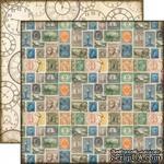 Лист двусторонней бумаги от Echo Park-Simple Stamps - Марки, Часы - ScrapUA.com