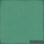 Лист скрапбумаги от Echo Park - Teal / Cream, 30х30 см - ScrapUA.com
