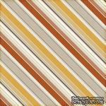 Лист скрапбумаги от Echo Park - Autumn Stripes, 30х30 см - ScrapUA.com