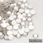 Стразы Crystal, 3.8~4мм, цвет белый, 20 шт. - ScrapUA.com