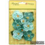 Набор цветов Petaloo - Botanica Ranunculus - Teal - ScrapUA.com