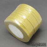 Ленточка металлизированная двусторонняя, ширина 6мм, цвет золото, 90см - ScrapUA.com