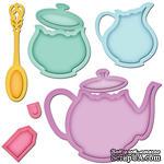 Лезвия от Spellbinders - Tea Service - Чайный сервиз, 8 шт - ScrapUA.com