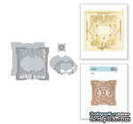 Ножи для вырубки от Spellbinders - Shapeabilities Antiquities Square Etched Dies Vintage Treasures by Becca Feeken - ScrapUA.com