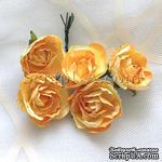 Розочка, цвет желтый, 28 мм, 1 штука - ScrapUA.com