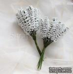 Веточки декоративные, цвет белый, 1 пучок из 10 штук - ScrapUA.com