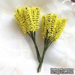 Веточки декоративные, цвет лимонный, 1 пучок из 10 штук - ScrapUA.com