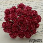 Открытые розочки, цвет коралловый красный, диаметр - 10мм, 10 шт. - ScrapUA.com