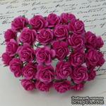 Цветы розочек от Thailand - DEEP PINK, 10 мм, 10 шт - ScrapUA.com