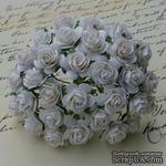 Открытые розочки, цвет белый, диаметр - 10мм, 10 шт. - ScrapUA.com