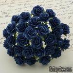 Открытые розочки, цвет темно-синий, диаметр - 10мм, 10 шт. - ScrapUA.com