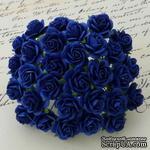 Цветы розочек от Thailand - ROYAL BLUE , 15 мм, 10 шт - ScrapUA.com