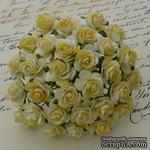 Открытые розочки, цвет желтый, диаметр - 15мм, 10 шт. - ScrapUA.com