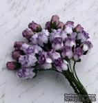 Набор роз с полуоткрытым бутоном от Thailand - лиловый микс, 10 шт - ScrapUA.com