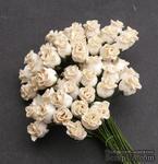Бутоны роз, слоновая кость - темный, 10 мм, 5 шт. - ScrapUA.com