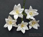 Лилии, цвет белый, 30мм, 5 шт. - ScrapUA.com
