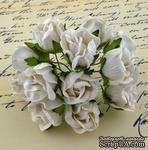 Бутоны большие дикой розы, цвет белый, размер бутона 2 см, 1шт. - ScrapUA.com