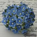 Цветочки любви - sweetheart, цвет синий, диаметр - 15мм, 10 шт. - ScrapUA.com