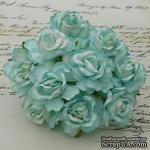 Дикая роза, цвет аквамарин, диаметр - 40мм, 1 шт. - ScrapUA.com