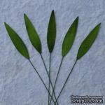 Трава, цвет зеленый, размер - 8x3мм, 10 шт. - ScrapUA.com