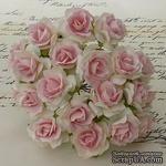 Дикая роза, цвет белый с нежно-розовой серединкой, диаметр - 30мм, 1 шт. - ScrapUA.com