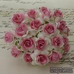 Дикая роза, цвет белый с розовой серединкой, диаметр - 30мм, 1 шт. - ScrapUA.com