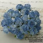 Дикая роза, цвет голубой, диаметр - 30мм, 1 шт. - ScrapUA.com