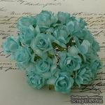 Дикая роза, цвет аквамарин, диаметр - 30мм, 1 шт. - ScrapUA.com