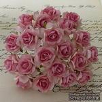 Дикая роза, цвет розовый, диаметр - 30мм, 1 шт. - ScrapUA.com