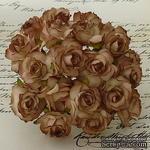 Дикая роза, цвет коричневый, диаметр - 30мм, 1 шт. - ScrapUA.com