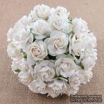 Дикая роза, цвет белый, диаметр - 30мм, 1 шт. - ScrapUA.com