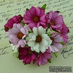 Ромашки, микс цветов (розовый, белый), 45мм, 5 шт. - ScrapUA.com