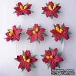 Пуансеттия, цвет красный, диаметр - 30-35мм, 1 шт. - ScrapUA.com