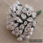 Буточники розы, цвет белый, диаметр - 4мм, 10 шт. - ScrapUA.com
