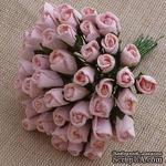 Буточники розы, цвет бледно-розовый, диаметр - 4мм, 10 шт. - ScrapUA.com
