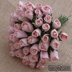 Закрытые бутоны роз, цвет нежно-розовый, 8 мм, 10 штук - ScrapUA.com
