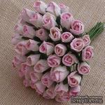 Буточники розы, цвет нежно-розовый с белым, диаметр - 6мм, 10 шт. - ScrapUA.com