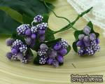 Веточка с ягодками, цвет сиренево-лиловый, размер соцветия - 20х20мм, 1 шт. - ScrapUA.com