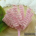 Веточки со спиральками, цвет нежно-розовый, размер - 10х30мм, 12 шт. - ScrapUA.com