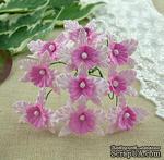 Орхидеи, цвет нежно-розовый с розовым, размер - 22х30мм, 5 шт. - ScrapUA.com