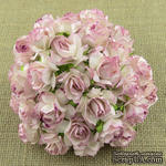 Дикая роза, цвет розовый  с красным, диаметр - 30мм, 1 шт. - ScrapUA.com