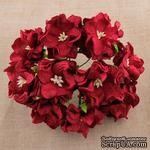 Гардения большая, цвет темно-красный, 6-7см, 1 шт. - ScrapUA.com
