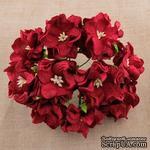 Гардения, цвет темно-красный, 3,5см, 1 шт. - ScrapUA.com