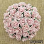 Открытые розочки, цвет бледно-розовый, диаметр - 10мм, 10 шт. - ScrapUA.com