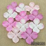 Набор гортензий, цвет микс-розовый 35 мм, 20 шт. - ScrapUA.com