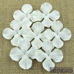 Набор гортензий, цвет белый, 50 мм, 20 шт. - ScrapUA.com