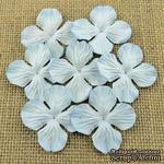 Набор гортензий, цвет нежно-голубой, 50 мм, 20 шт. - ScrapUA.com